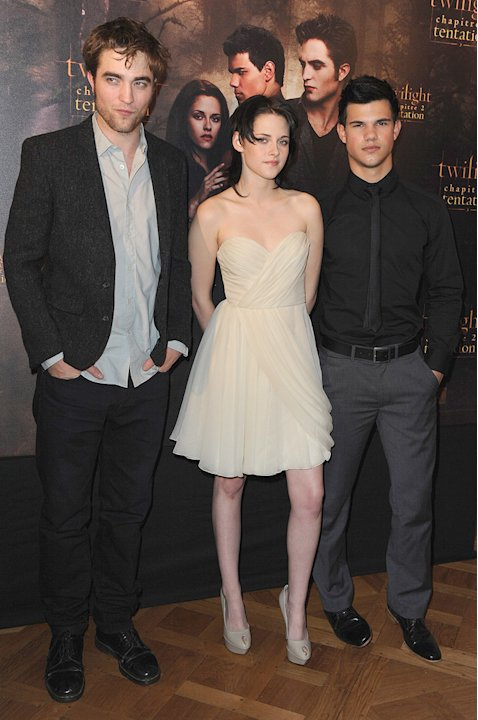 New Moon Press Tour 2009 robert Pattinson Kristen Stewart Taylor Lautner
