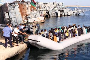 Migrants were shuttled in a three-hour operation to …