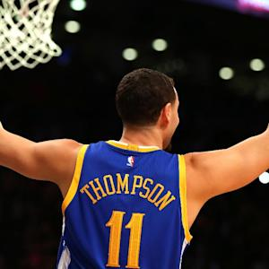 Klay Thompson defeats Steph Curry in final of three point contest