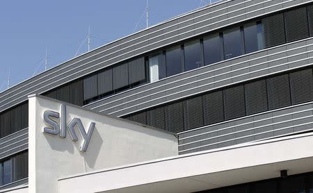 File photo of Sky Deutschland headquarters in Unterfoehring