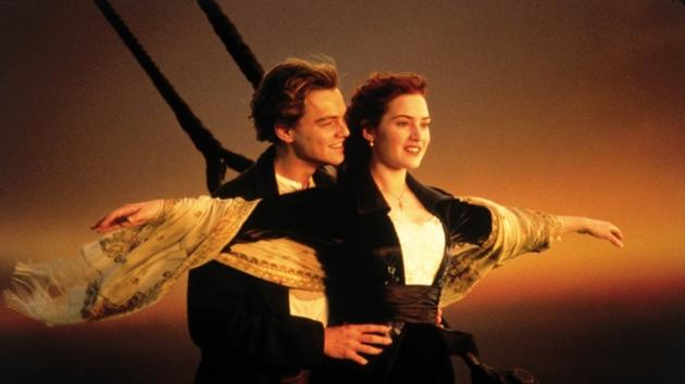 Leonardo DiCaprio and Kate Winslet in 'Titanic' -- Paramount