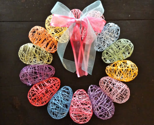 Thread Egg Wreath