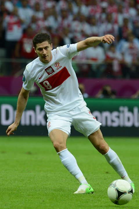 Polish Forward Robert Lewandowski Controls AFP/Getty Images