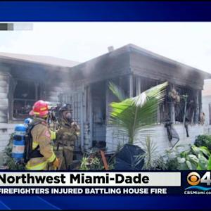 Firefighters Injured On The Job In Miami House Fire