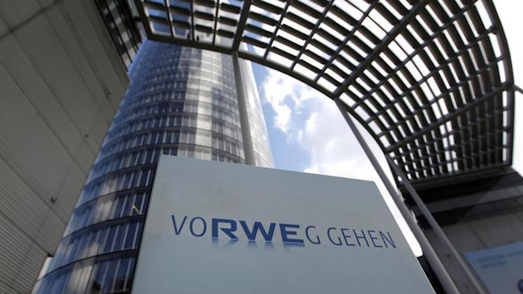 The headquarters of German power supplier RWE are pictured in Essen