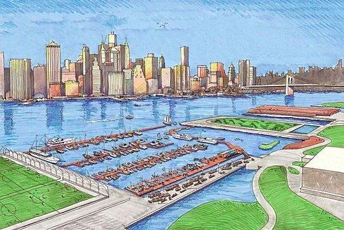 Brooklyn Bridge Park's 140-Slip Marina Is Taking Shape