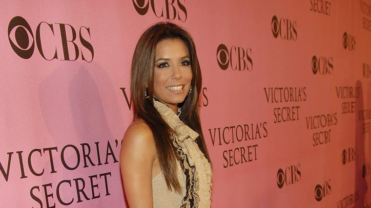 Eva Longoria arrives at the 12th Annual Victoria's Secret Fashion Show.