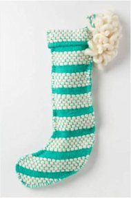 Anthropologie Loomed &amp;amp; Loomed Stocking, $48