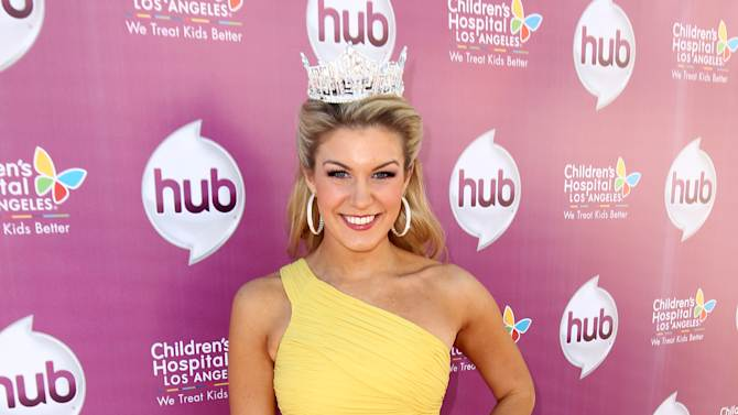 """IMAGE DISTRIBUTED FOR THE HUB - Miss America 2013 Mallory Hagan attends The Hub TV Network's """"My Little Pony Friendship is Magic"""" Coronation Concert at the Brentwood Theatre on Saturday, Feb. 9, 2013, in Los Angeles in support of Children's Hospital LA. (Photo by Matt Sayles/Invision for The Hub/AP Images)"""