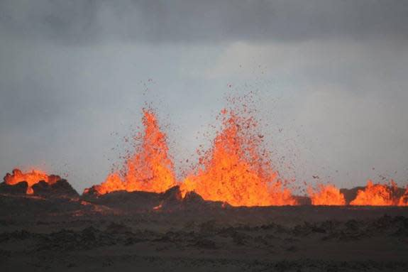 Iceland Volcano Blasts Back to Life