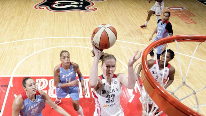 Dream beat Mystics 63-45 to even series