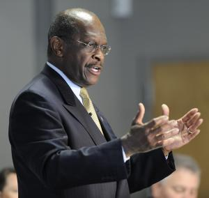 Republican presidential candidate Herman Cain speaks in Greenville, S.C., Wednesday, June 29, 2011. (AP Photo/The Greenville News, Bart Boatwright)