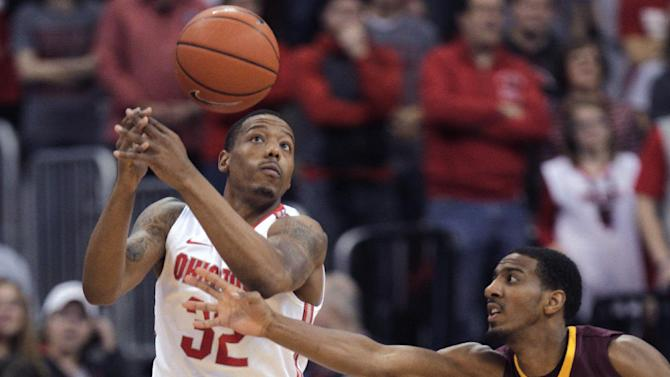 Thompson fuels No. 24 OSU's 2nd half rally, 64-46
