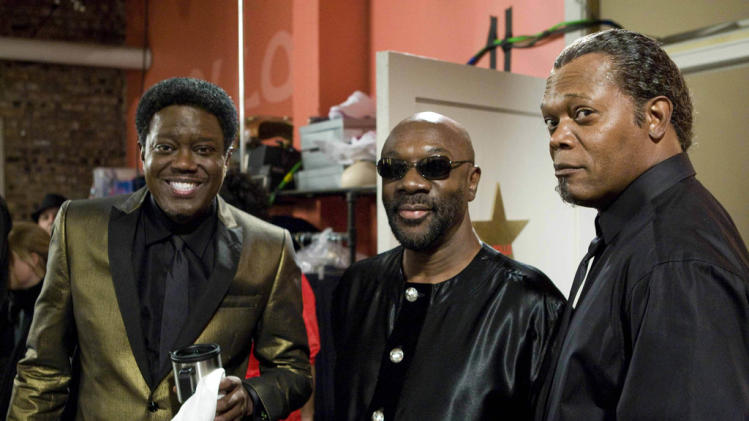 Isaac Hayes Bernie Mac Samuel L. Jackson Soul Men Production Stills The Weinstein Company 2008