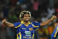 Sri Lankan cricketer Lasith Malinga is seen during the first Twenty20 match between Sri Lanka and Pakistan on June 1. The International Cricket Council on Friday named Malinga as the event ambassador for the World Twenty20 to be held in the island nation later this year