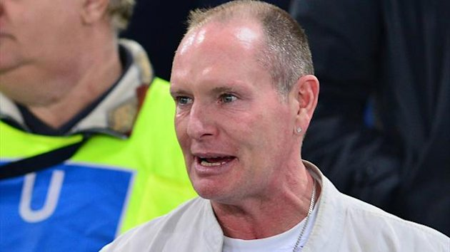 Paul Gascoigne pictured in November 2012