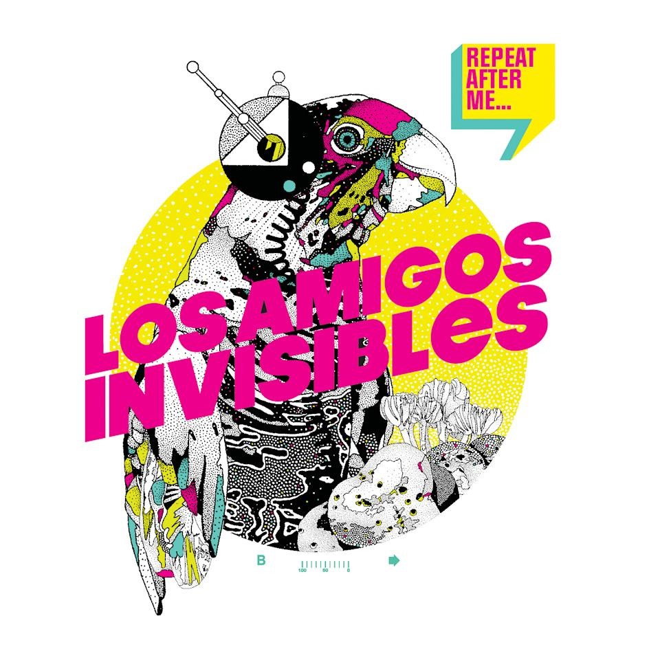 "This CD cover image released by Nacional Records shows ""Repeat After Me,"" by Los Amigos Invisibles. (AP Photo/Nacional Records)"