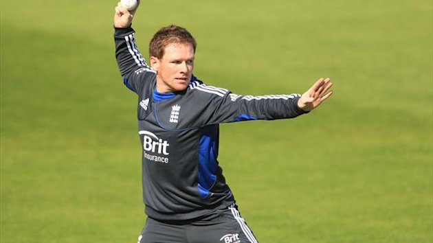Eoin Morgan was unable to participate in England's nets session