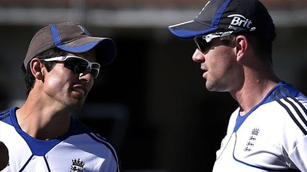 England's Alastair Cook and Kevin Pietersen in New Zealand (Reuters)