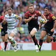 Saracens' Chris Ashton, centre, during the Aviva Premiership match at Twickenham