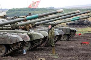 Thirty three T-72 tanks that insurgents say were captured…