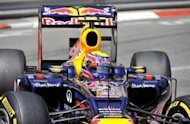 Red Bull Racing's Mark Webber pictured during the third practice session at the Circuit de Monaco in Monte Carlo on May 26 ahead of Sunday's Formula One Grand Prix. Webber will start from pole position in Sunday's race despite posting only the second fastest time in qualifying on Saturday