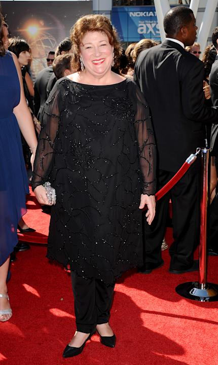 Margo Martindale arrives at the 2013 Primetime Creative Arts Emmy Awards, on Sunday, September 15, 2013 at Nokia Theatre L.A. Live, in Los Angeles, Calif. (Photo by Scott Kirkland/Invision for Academy