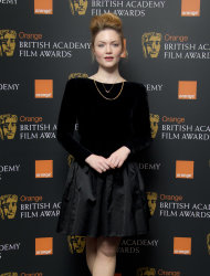 British actress Holliday Grainger after she announced the British Academy Film Award nominations in Piccadilly, London, Tuesday, Jan. 17, 2012. (AP Photo/Joel Ryan)
