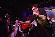 Mark McGrath of Sugar Ray performs with Camp Freddy at the 2013 Green Inaugural Ball.