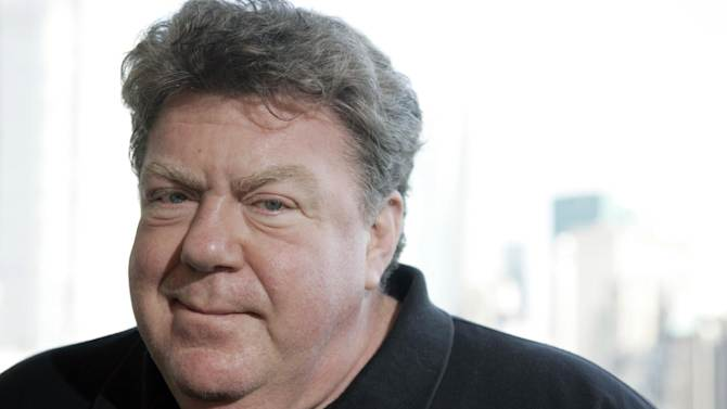 """FILE - This Oct. 20, 2009 file photo shows actor George Wendt posing for a portrait in New York. Wendt will play Holly Golightly's husband when """"Breakfast at Tiffany's"""" hit the Broadway stage next year. The play, a return to the story by Truman Capote, will star Emilia Clarke of HBO's """"Game of Thrones"""" in the role Audrey Hepburn made famous in 1961 movie. (AP Photo/Jeff Christensen, file)"""