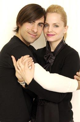 Jason Schwartzman and Mena Suvari Spun Yahoo! Movies Portrait Studio Sundance Film Festival 1/21/2003