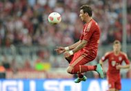 Bayern Munich&#39;s Mario Mandzukic, seen here in action during their German first division Bundesliga match against Vfl Wolfsburg, in Munich, southern Germany, on September 25. Bayern travel to Werder Bremen next, on Saturday
