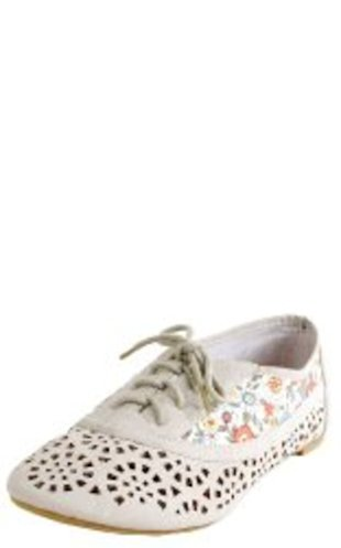 Lace-up Floral, Perforated Oxfords, $21.60