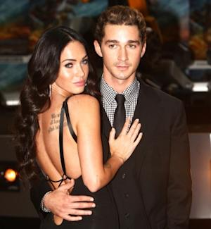"Shia La Beouf and Megan Fox attend the UK premiere of ""Transformers: Revenge of the Fallen"" at the Odeon Leicester Square in London on June 15, 2009 -- Getty Premium"