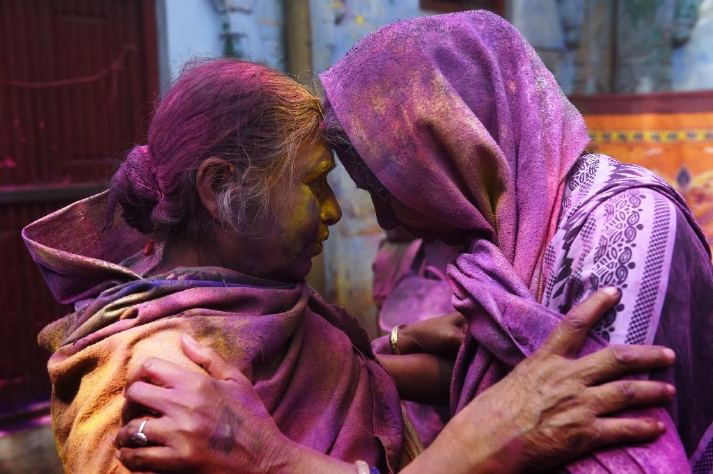 India celebrates Holi as widows paint town red