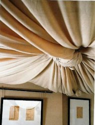 Fabric ceiling treatment