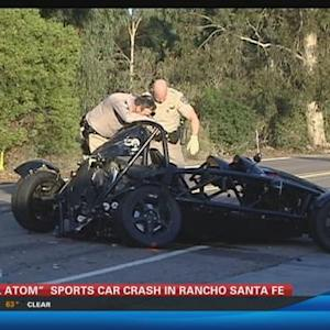 Ariel Atom sports car crash in Rancho Santa Fe