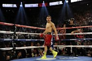 Mexico's Julio Cesar Chavez Jnr, pictured on September 15, tested positive for marijuana after losing his World Boxing Council middleweight crown to Argentina's Sergio Martinez, promoter Bob Arum told reporters