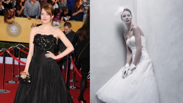 Emma Stone, bridal gown -- Getty Images