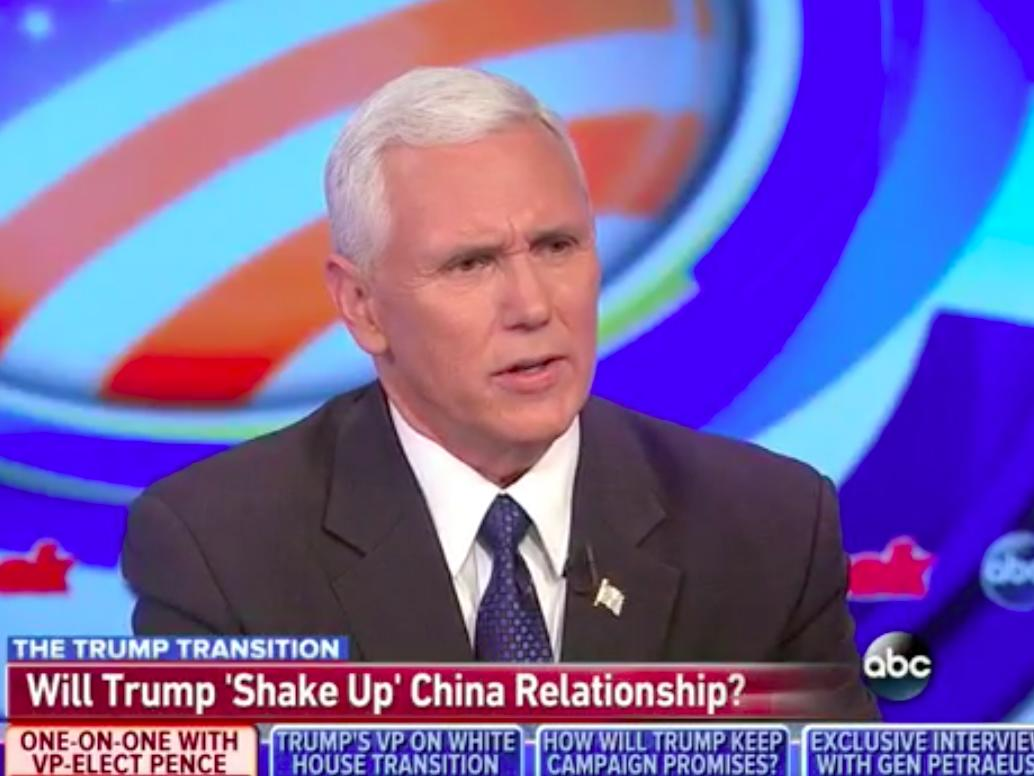 'Nothing more than a courtesy call': Mike Pence defends Trump's controversial chat with Taiwan's leader