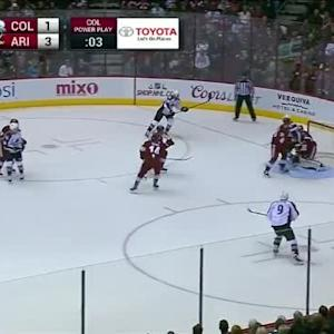 Mike Smith Save on Tyson Barrie (11:19/2nd)