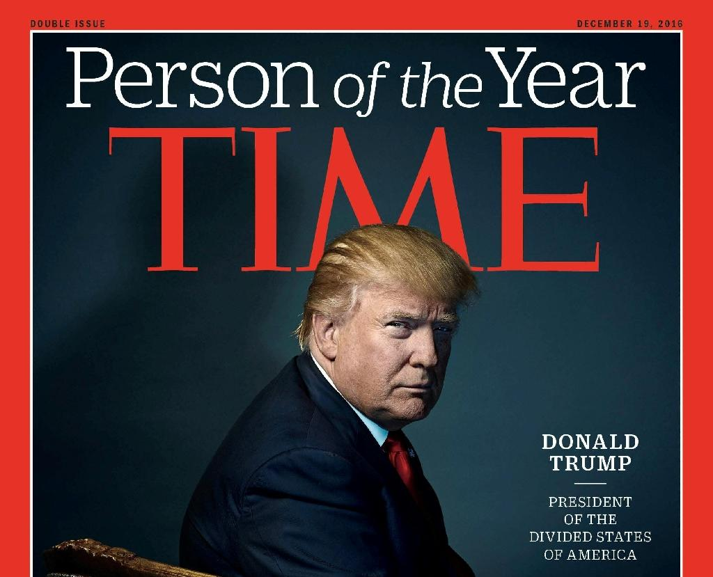 Donald Trump is Time magazine's 2016 'Person of the Year'