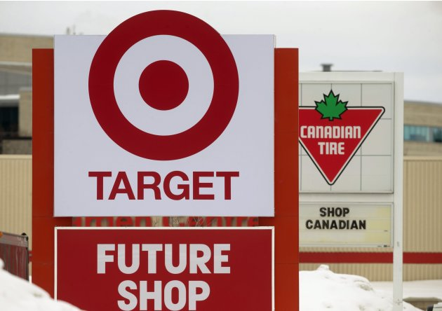 The sign for the new Target store is seen in Guelph, Ontario