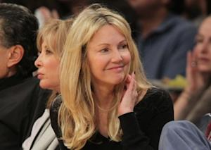 Heather Locklear attends the game between the Phoenix Suns and the Los Angeles Lakers at Staples Center in Los Angeles on January 10, 2012 -- Getty Premium