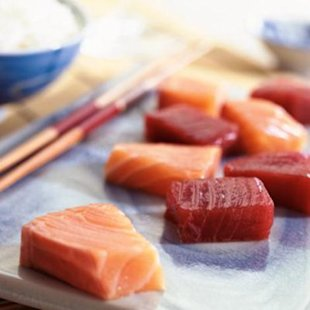 Order salmon or tuna