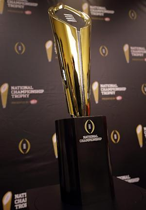 College Football Playoff's trophy is golden