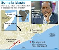 Somalia&#39;s new president survives suicide bomb attack