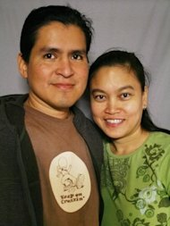 Rachel and Ruben Salazar met on the internet, but it's not what you think. (Storycorps/NPR)