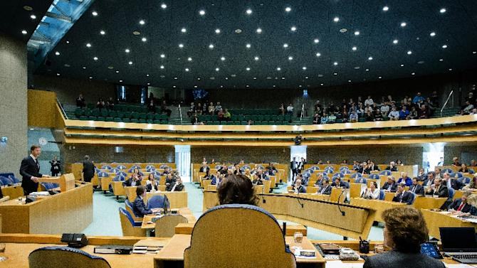 The Dutch parliament, photographed March 10, 2015, has passed a measure that would phase out coal-fired power plants in The Netherlands; the plan will now go to the cabinet for review