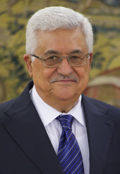 King Juan Carlos of Spain meets Mr Mahmoud Abbas at Zarzuela Palace